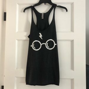 Dark Grey Harry Potter Glasses Tank